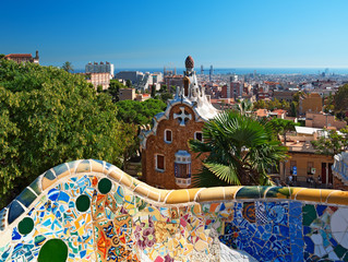 Photo sur Toile Europe Centrale Park Guell , Barcelona - Spain