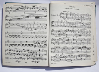 This musical page of classical music