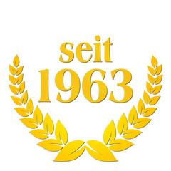 seit 1963  jubiläum lorbeerkranz lorbeer gold