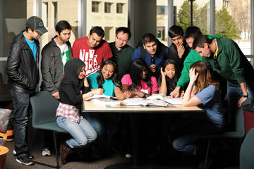 Diverse Group of Students Interacting