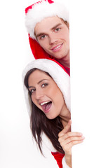 paar weihnachten mit textfreiraum