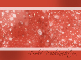 Weihnachtsfreude rot