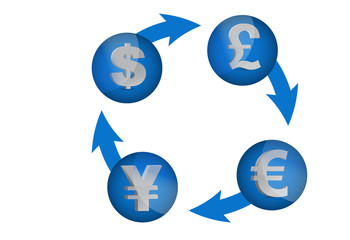 currency exchange cycle illustration design