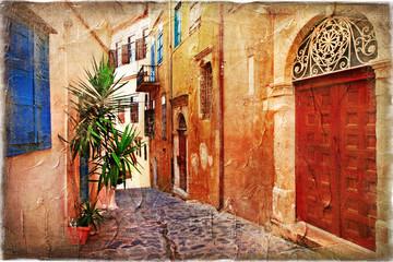 strrets starej Grecji - obraz artystyczny - 36583708