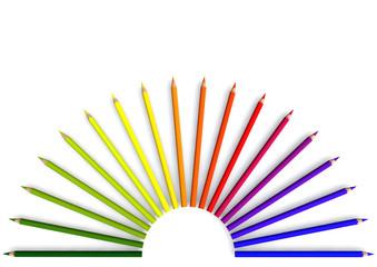 Buntstifthalbkeis mit Farbverlauf