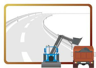 Road-building equipment