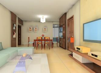 a kind of living room design