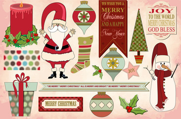 Christmas Clip Art, Banners, Christmas pattern and background
