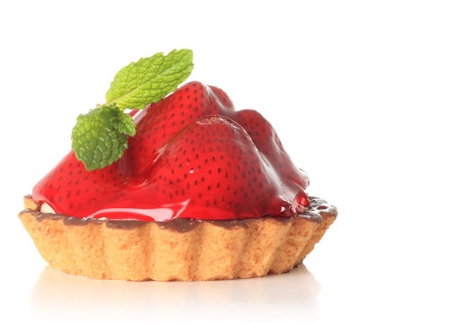 Strawberry fruit tart