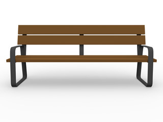 Front view of a bench