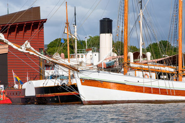 tallship harbor in Stockholm,