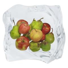Foto op Canvas In het ijs Eiswürfel