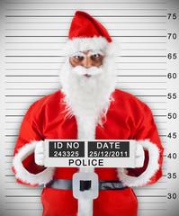 Foto segnaletica di Babbo Natale