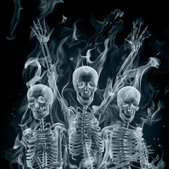 Smoke skeletons