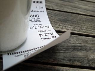 Rechnung für Cafe Latte