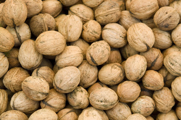 unpeeled walnut background