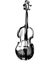 sketch of a stringed musical instrument orchestra violin