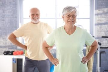 Vital pensioners exercising