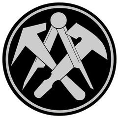 Handwerk- Handwerkszeichen- Dachdecker
