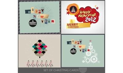 Set of Christmas cards 2012