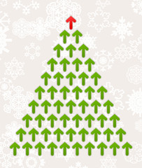 Christmas tree from green arrows