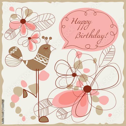 Векторные открытки с днём рождения 2