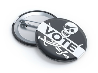 Pirate party vote badge