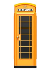 The British orange phone booth