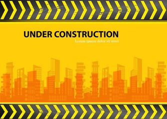 under construction - city vector