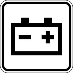 Fototapete - Batterie Sammelstelle Schild Zeichen Symbol