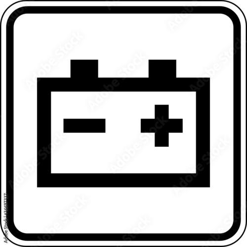 Batterie Sammelstelle Schild Zeichen Symbol\