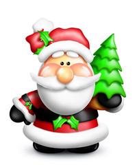 Gumdrop Cartoon Santa