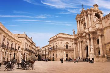 Piazza del Duomo à Syracuse - Sicile Italie Fototapete