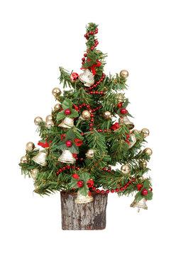 decorated mini christmas tree