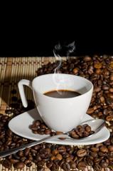caffè fumante