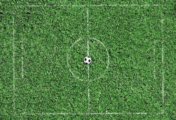 green grass football field
