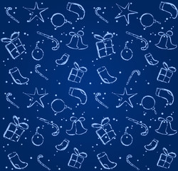 blue seamless background. Christmas or New Year