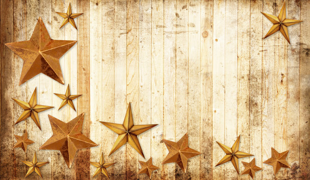 Country Christmas stars