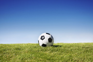Soccer Ball on field - Wide