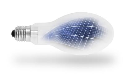 Light bulb with solar panels