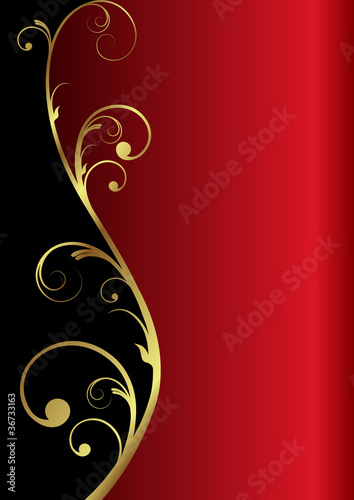 """elegant vector background in red/gold/black"" Stock image ..."