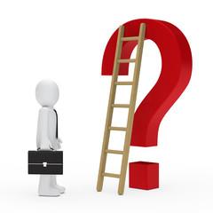 business man question mark