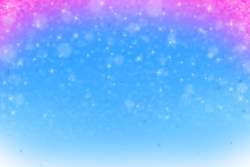 blue and red christmas background with snowflakes