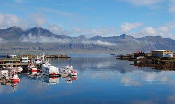 Village de pêche, Djupivogur, Iceland (Islande)