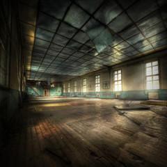 Fototapete - abandoned Gym