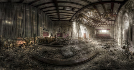 Wall Mural - abandoned theater