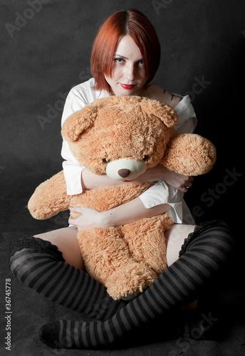 фото полненьких девушек с мишкой