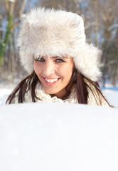 nahaufnahme frau winter