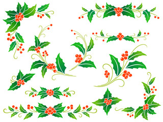 Cristmas holly decoration
