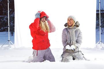 Winter outdoor studio shoot.